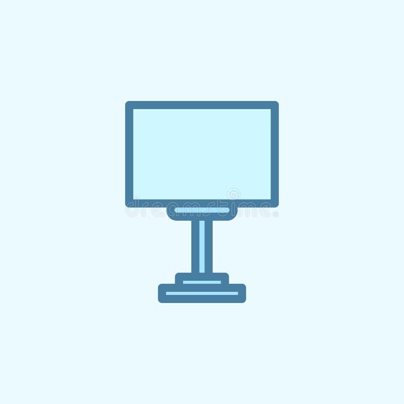 affisch på symbolen för vägfältöversikt Beståndsdel av den enkla symbolen för 2 färg Tunn linje symbol för websitedesignen och ut vektor illustrationer