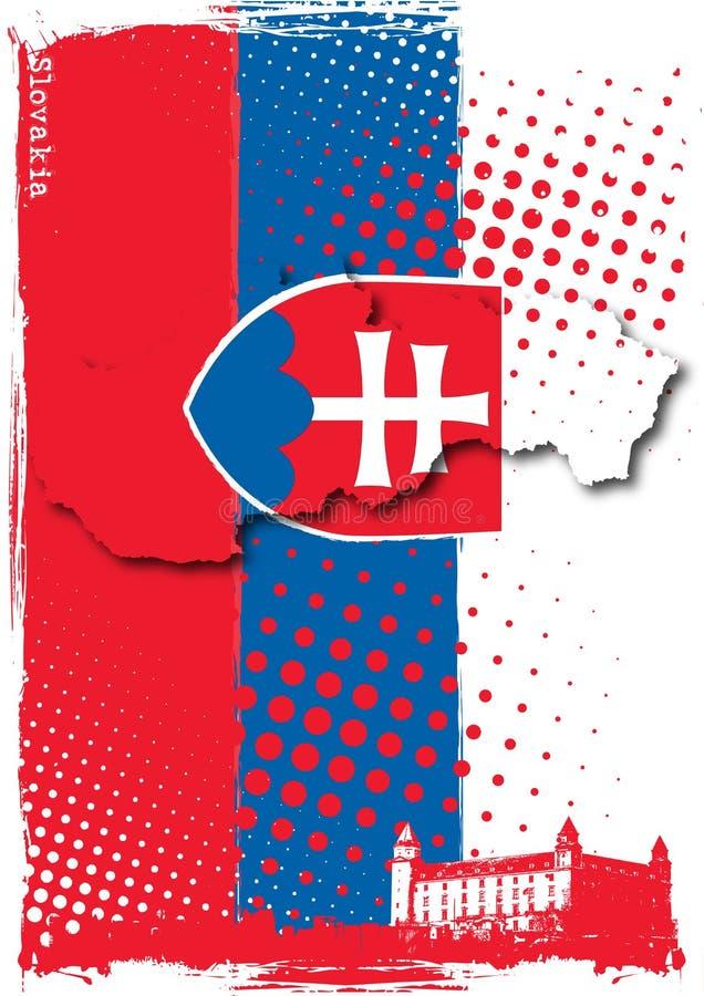 affisch slovakia royaltyfri illustrationer