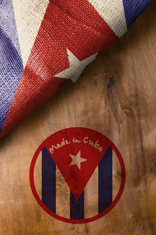 Affisch som göras i Kuba royaltyfri fotografi