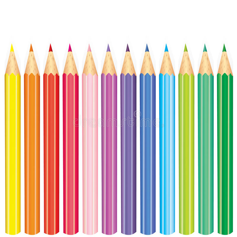 Affisch` tillbaka till skola` med kulöra blyertspennor också vektor för coreldrawillustration Höst Utbildning och utbildning stäl royaltyfri illustrationer