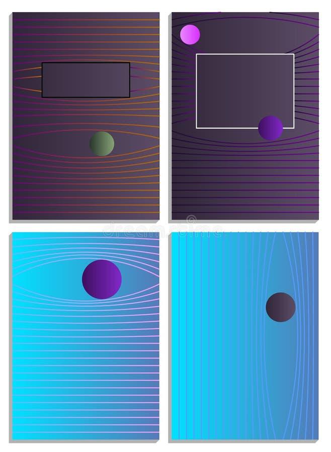Affischer med abstrakta former, geometrisk ` s, memphis för stil 80 Retro-konst för räkningar, baner, reklamblad och affischer royaltyfri foto