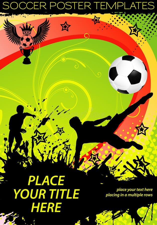 affischfotboll stock illustrationer