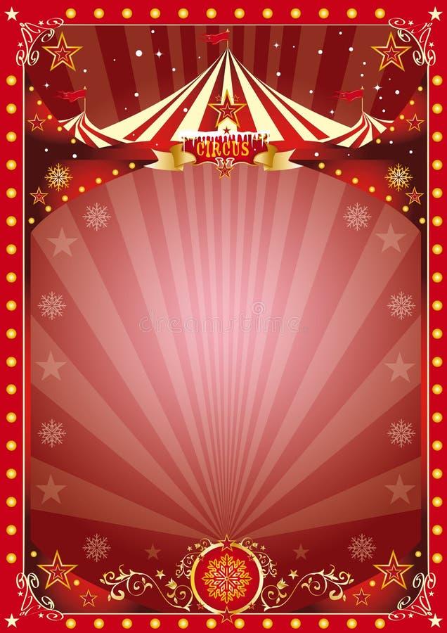 Affischjulcirkus royaltyfri illustrationer