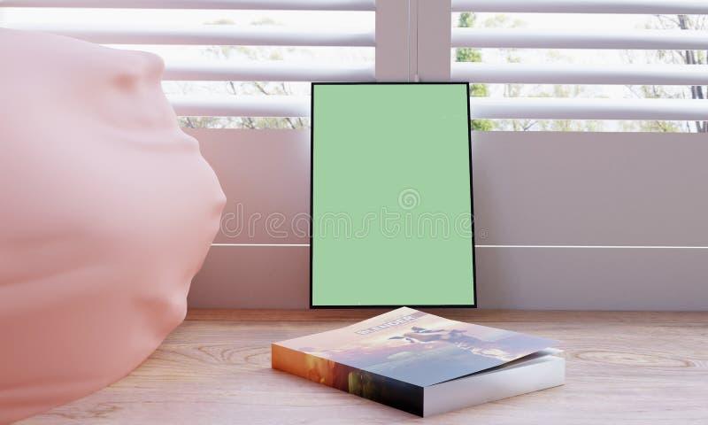 Affischmodell med en bok framme vektor illustrationer