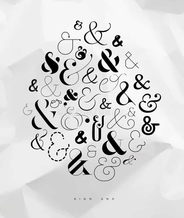 Affischsymbolet-tecken royaltyfri illustrationer
