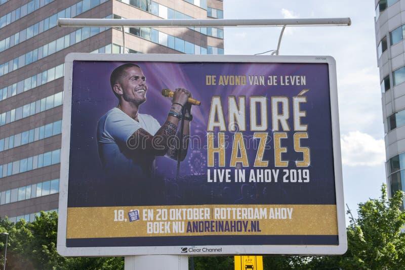 Affischtavla Andre Hazes Live In Ahoy 2019 på Amsterdam Nederländerna 2019 royaltyfri bild