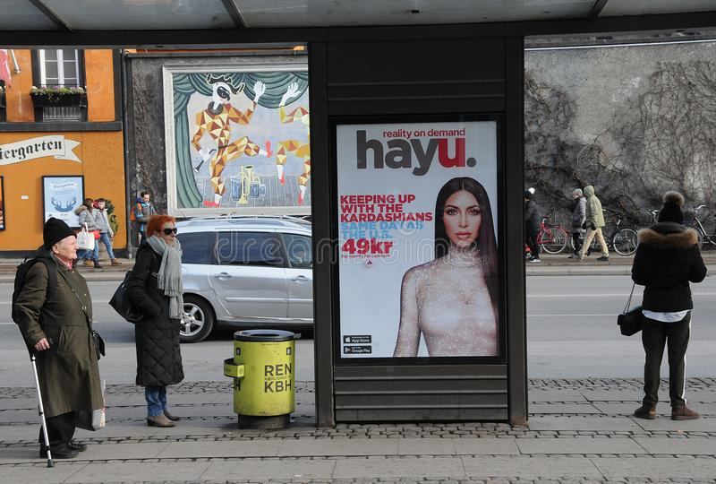 Affischtavla med kardashians royaltyfri fotografi