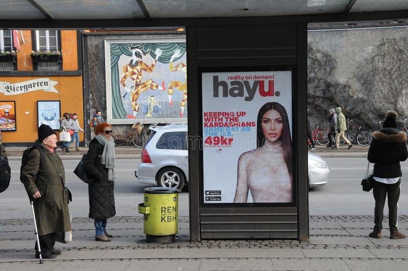 Affischtavla med kardashians royaltyfria bilder