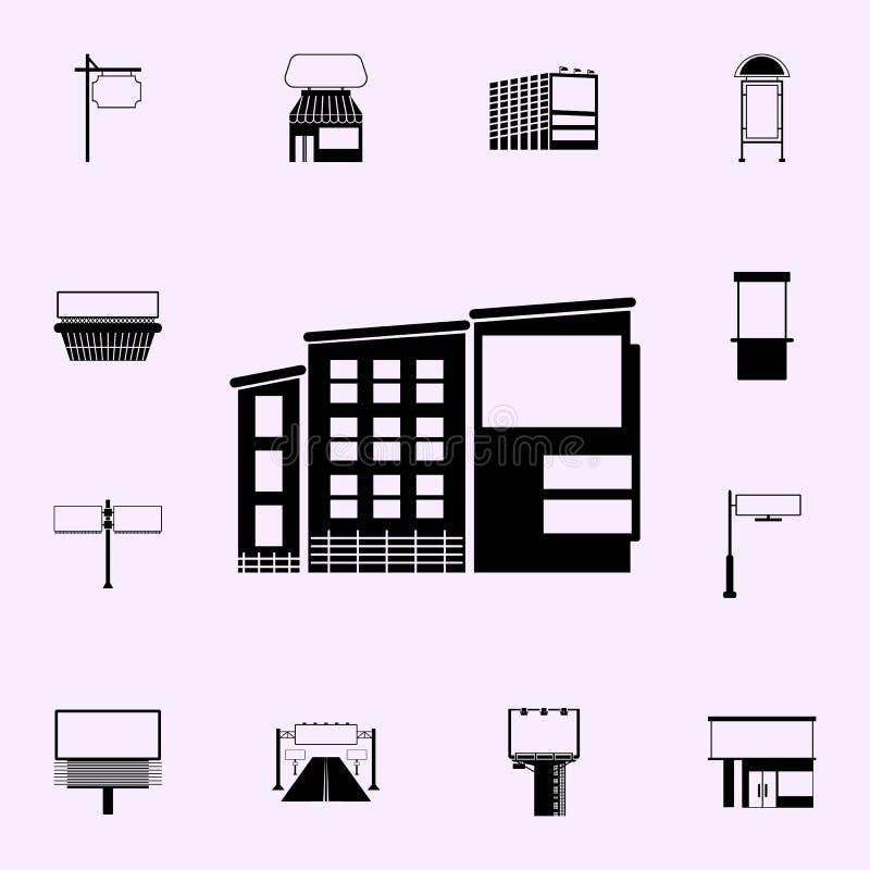 affischtavla p? byggande symbol Universell upps?ttning f?r affischtavlasymboler f?r reng?ringsduk och mobil vektor illustrationer