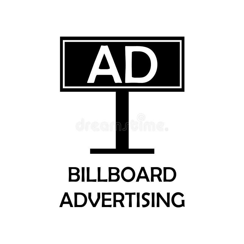 Affischtavlaadvertizingsymbol Beståndsdel av marknadsföringen för mobila begrepps- och rengöringsdukapps Den detaljerade affischt royaltyfri illustrationer