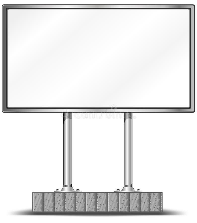 affischtavlamellanrum stock illustrationer