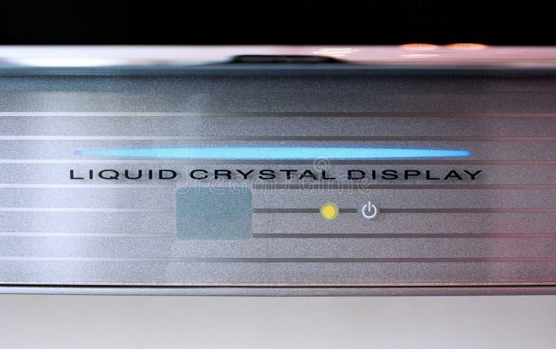Affissione a cristalli liquidi fotografia stock