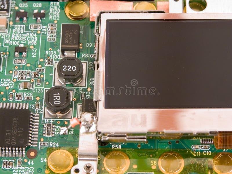 Affissione a cristalli liquidi elettronica immagini stock