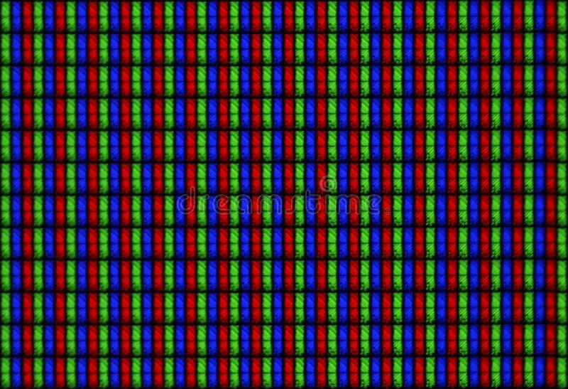 Affissione a cristalli liquidi RGB - macro della visualizzazione di struttura di Tilable fotografia stock