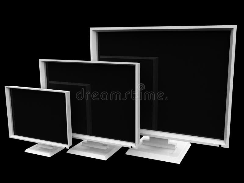 Affissione a cristalli liquidi - televisioni dello schermo piano illustrazione vettoriale