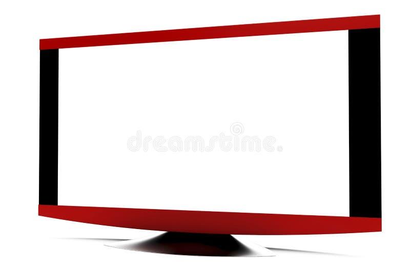 AFFISSIONE A CRISTALLI LIQUIDI TV illustrazione di stock
