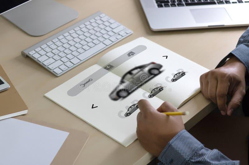 Affitti Transportati di Automobile Vehicles Car del rappresentante dell'autonoleggio immagine stock libera da diritti