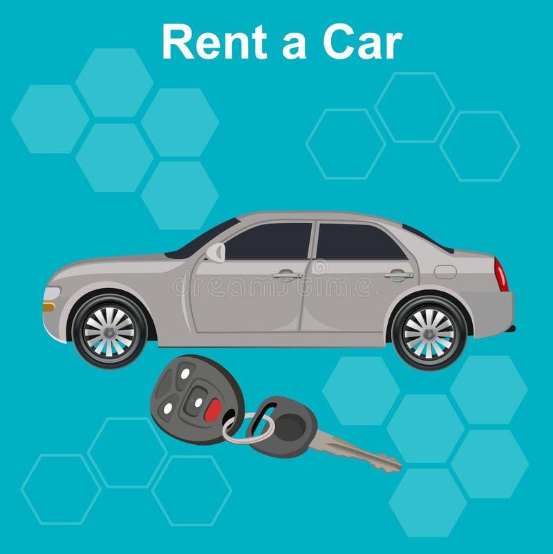 Affitti un concetto dell'automobile, illustrazione di vettore royalty illustrazione gratis