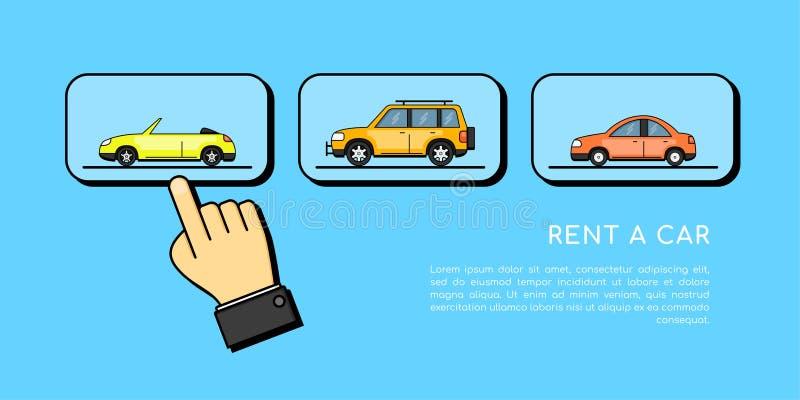 Affitti un'insegna di concetto dell'automobile royalty illustrazione gratis