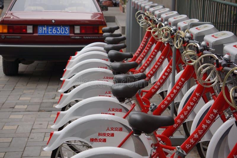 Affitto della bici di Pechino immagine stock