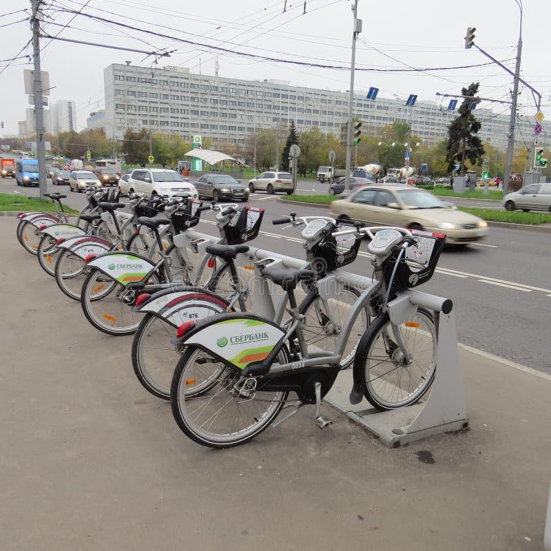 Affitto della bicicletta fotografie stock libere da diritti