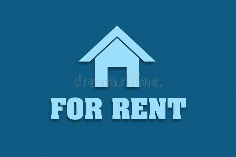 Affitto di concetto Icona a casa e l'iscrizione nel contratto d'affitto Fondo scuro Commercio e finanze royalty illustrazione gratis