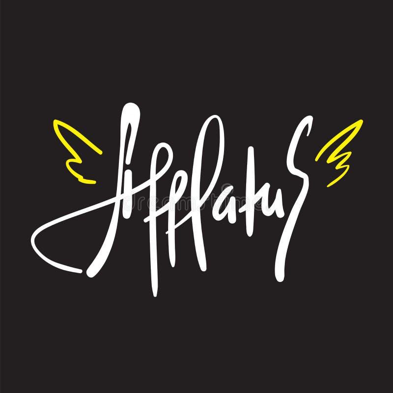 Afflatus - simples inspire e citações inspiradores Rotulação bonita tirada mão Cópia para o cartaz inspirado, ilustração stock