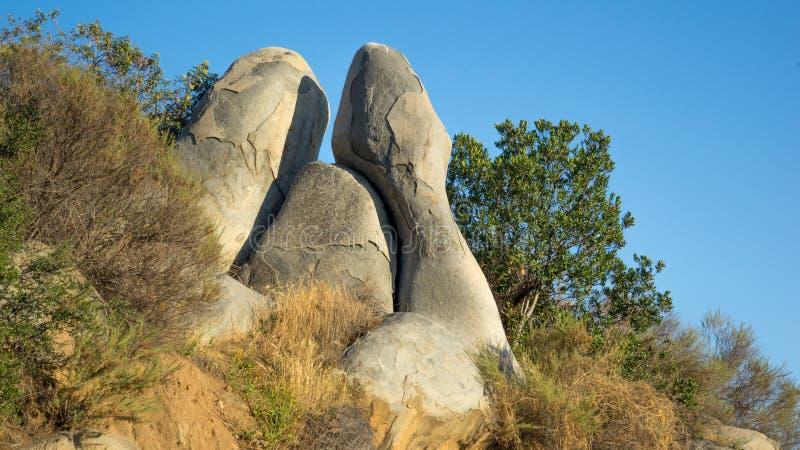 Affleurement particulier des roches photographie stock