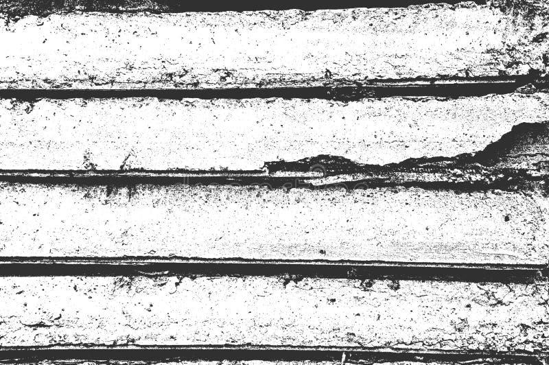 Affligga la vecchia struttura incrinata del muro di cemento Vettore EPS8 illustrazione di stock