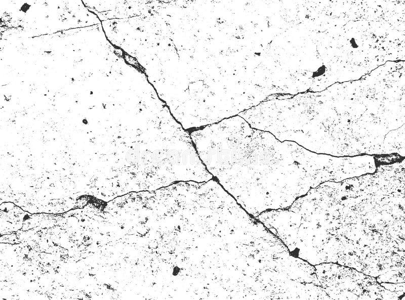 Affligga le vecchie strutture incrinate del muro di cemento Vettore EPS8 illustrazione di stock