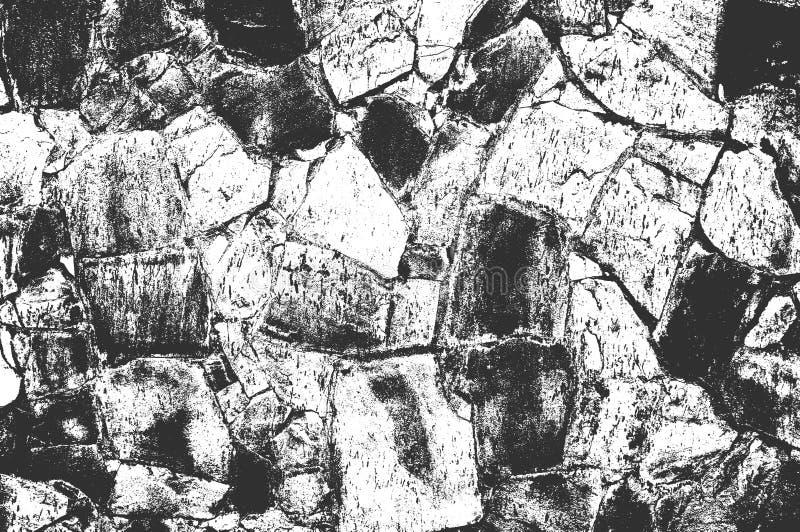 Affligga le vecchie strutture incrinate del muro di cemento Vettore EPS8 illustrazione vettoriale