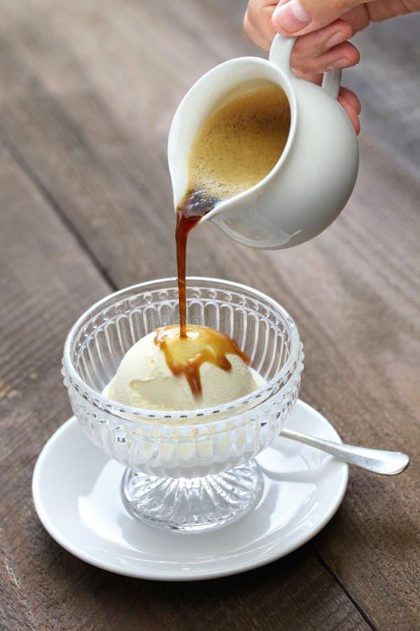 Affogato, итальянский десерт стоковое изображение