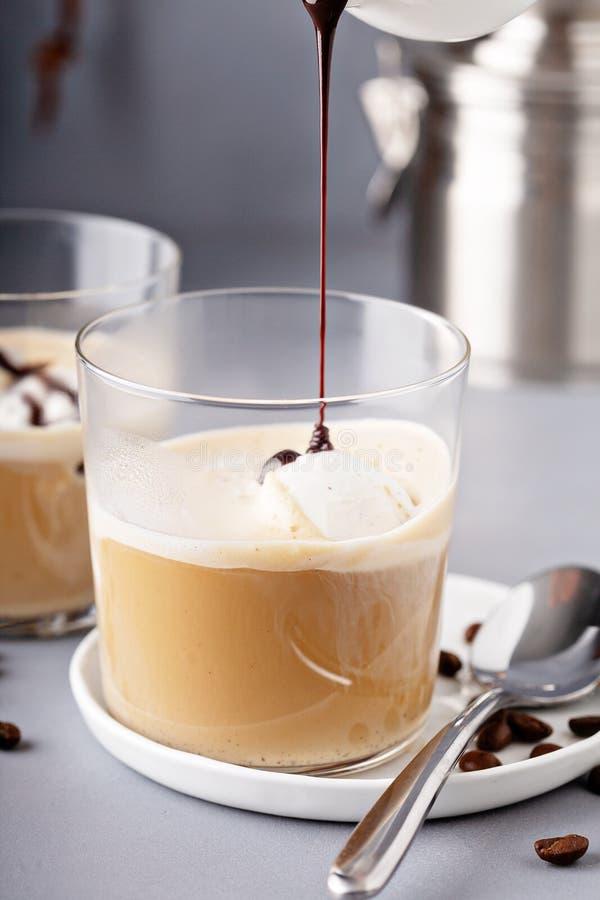 Affogato кофе с ванильным мороженым стоковые изображения rf