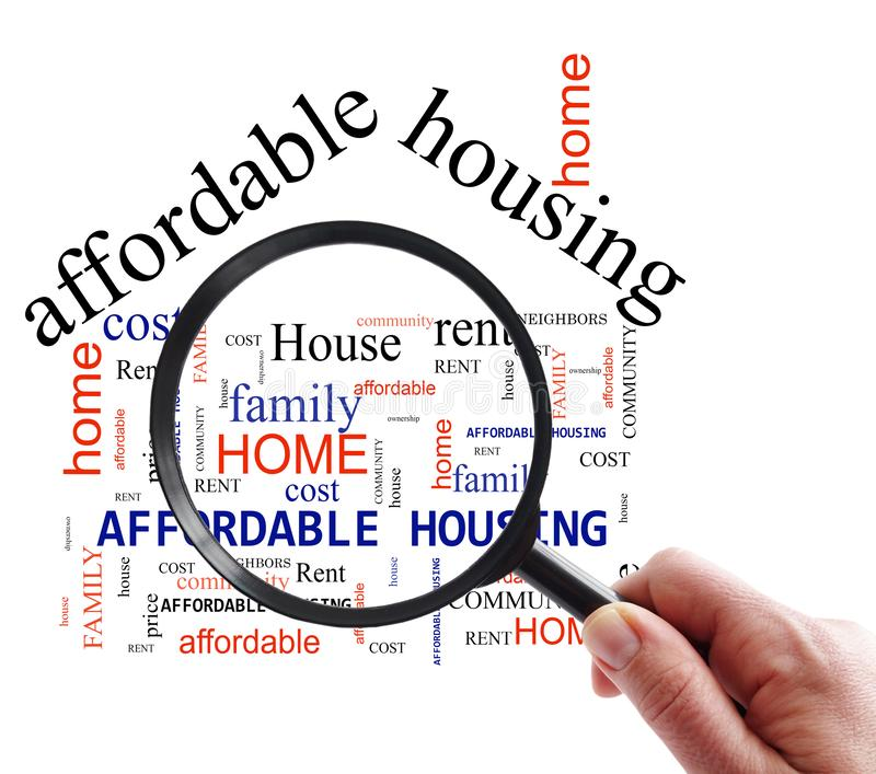 Affordable Apartment Search: Affordable Housing Crisis Stock Image. Image Of Mortgage