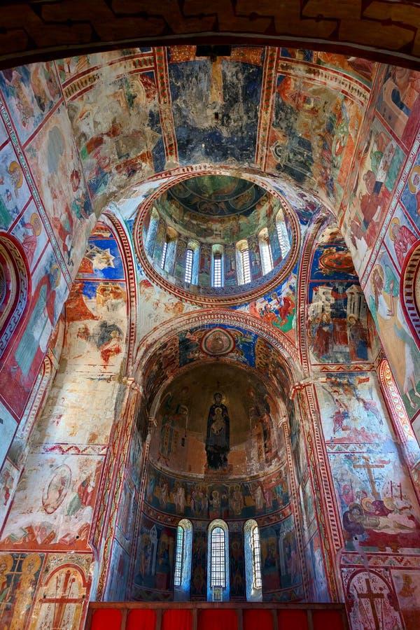 Affreschi della chiesa della nostra signora Barakoni fotografie stock