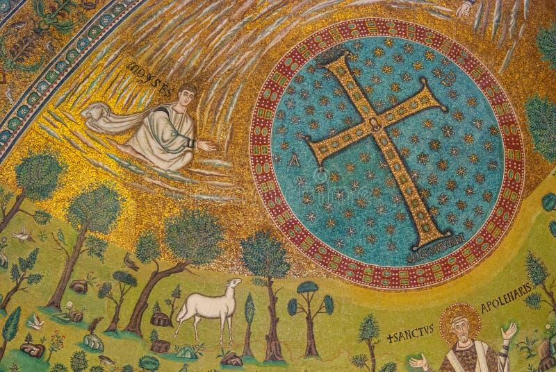 Affreschi a Ravenna immagine stock