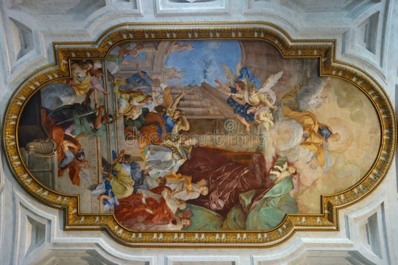 Affresco alla chiesa di St Peter in catene a Roma Italia fotografie stock libere da diritti