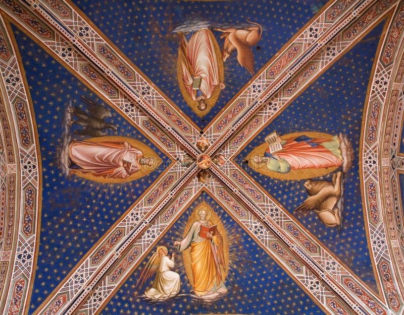 Affresco dalla chiesa di Firenze fotografia stock