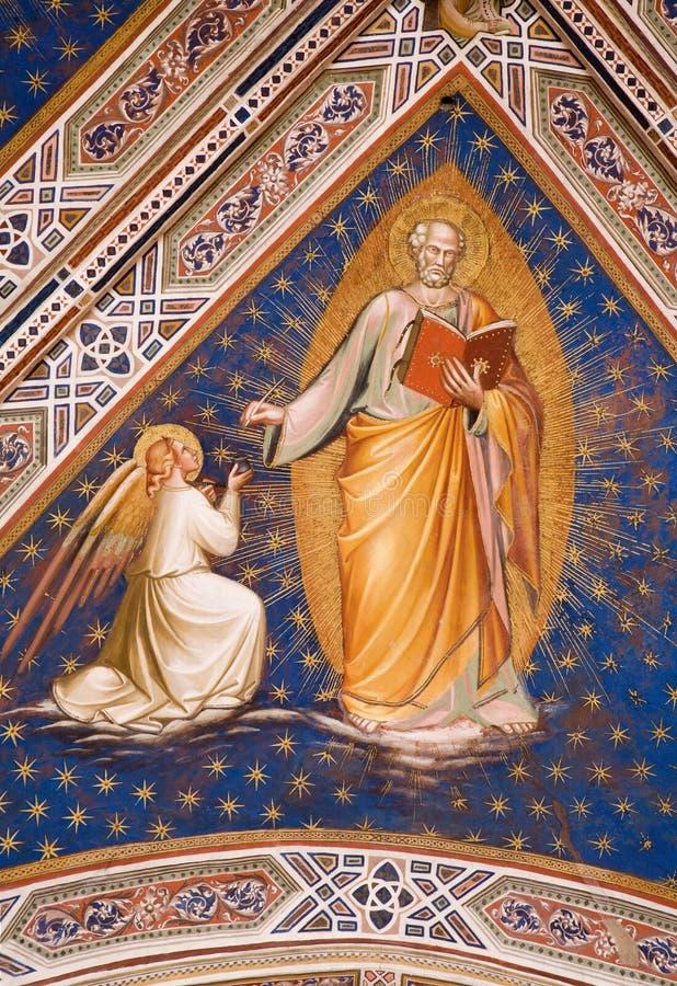 Affresco dalla chiesa di Firenze immagini stock libere da diritti