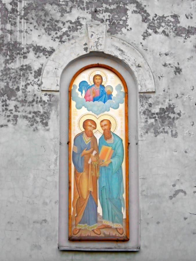 Affresco della cattedrale di St.Paul & di St.Peter fotografia stock