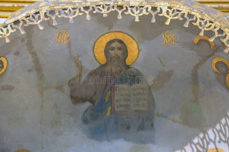 Affresco di Jesus Christ. immagini stock