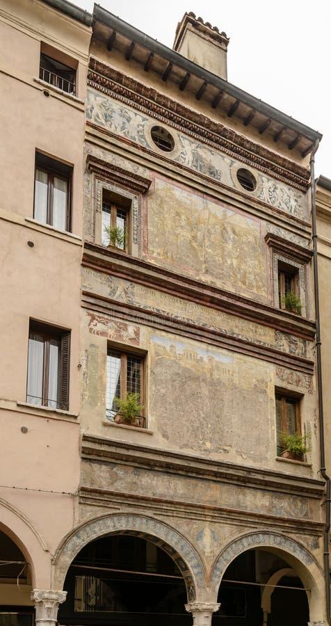 Affresco sulla casa di rinascita, Mantova, Italia fotografie stock libere da diritti