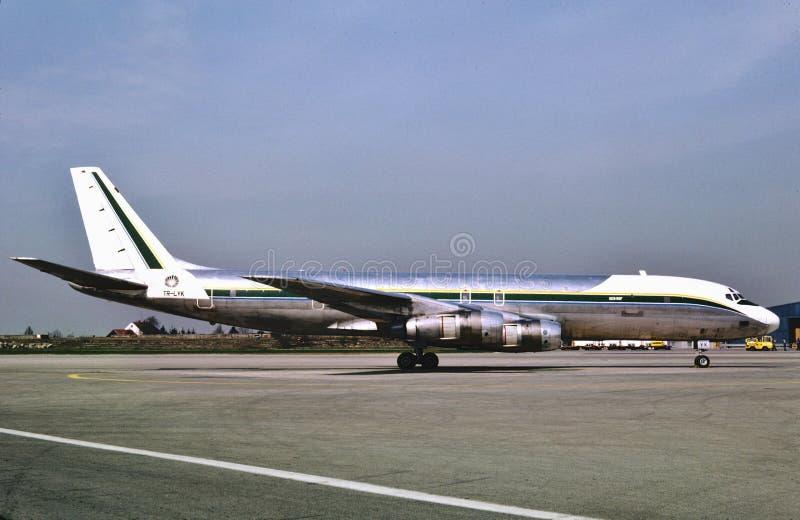 Affretair Douglas DC-8 am 2. April 1981 genommen stockbild