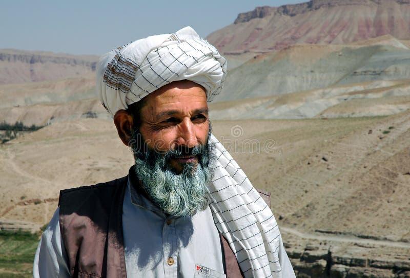 Afgańczyk noszący turban w wiosce między Heratem a Qala-e-Naw w prowincji Herat w Afganistanie fotografia stock