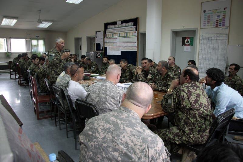 afgański amerykański wojska żołnierzy pociąg fotografia stock