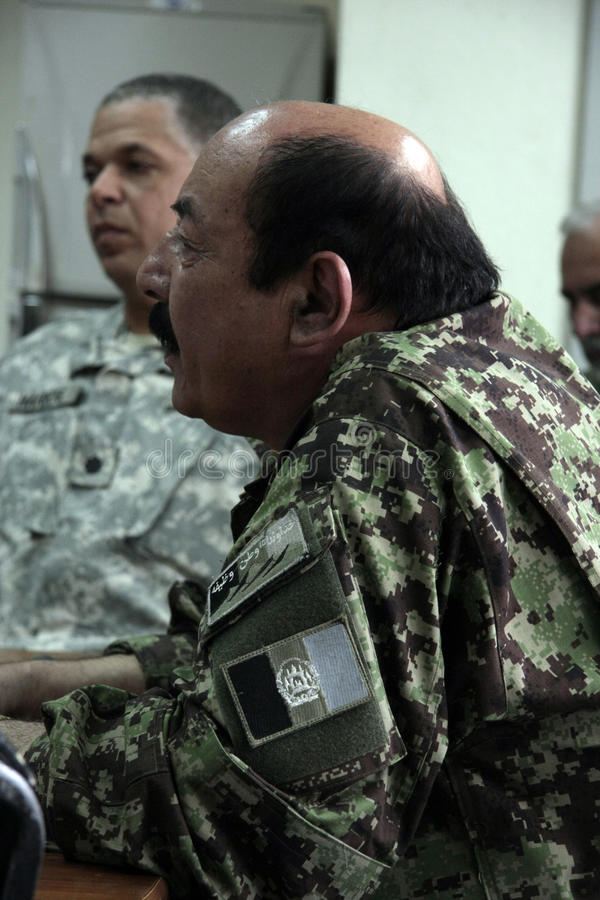afgański amerykański wojska żołnierzy pociąg zdjęcie stock