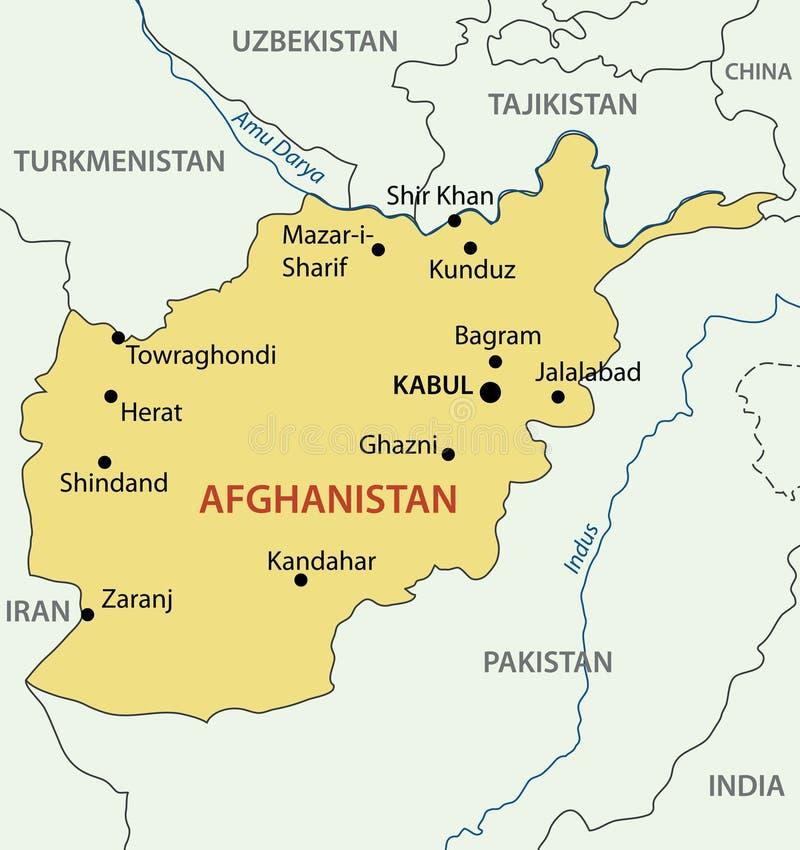 Afganistan islamska Republika wektor - mapa - royalty ilustracja