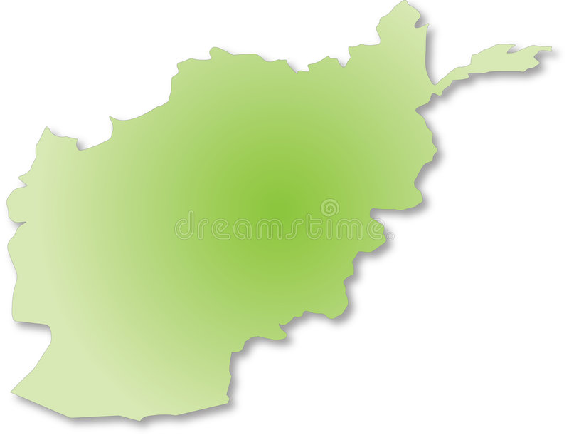 Download Afganistan outile map stock illustration. Image of shape - 4689540