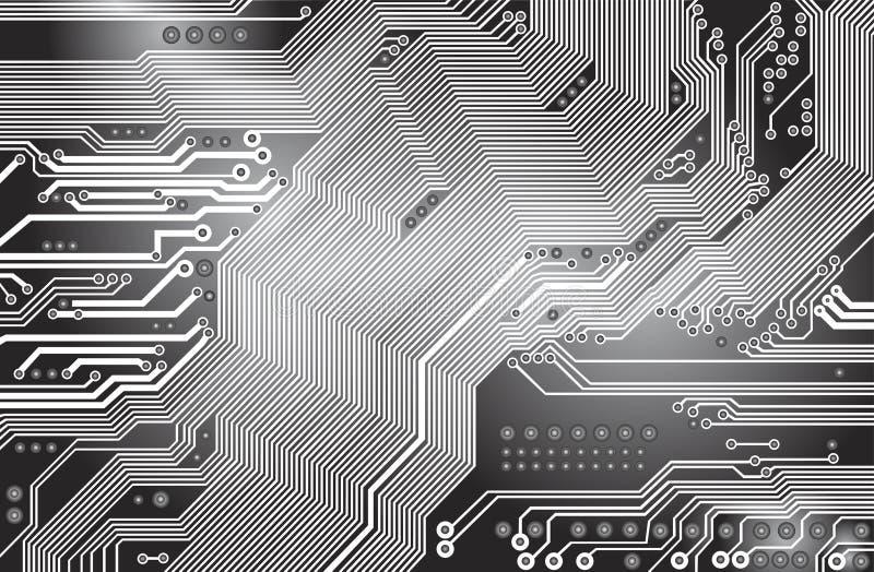 Afgedrukte kring - motherboard stock illustratie
