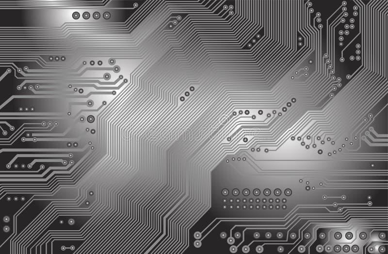 Afgedrukte kring - motherboard vector illustratie